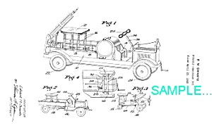 Patent Art: 1930s KEYSTONE Riding TOY FIRE TRUCK (Image1)