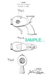 Patent Art: 1930s Marx FLASH GORDON Signal Pistol (Image1)