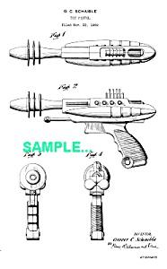 Patent Art: 1950s PYROTOMIC DISINTEGRATOR Ray Gun (Image1)