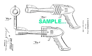 Patent Art: 1950s STRATO GUN Space Ray Gun (Image1)