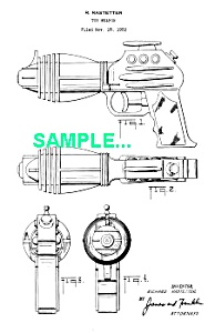 Patent Art: 1950s FLASH GORDON Water Pistol - Marx Toy (Image1)