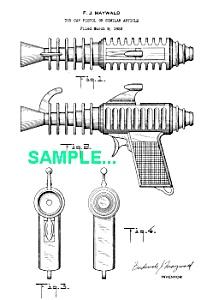 Patent Art: 1950s ATOMIC JET Ray Gun (Image1)