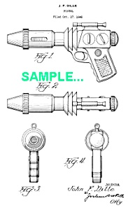 Patent Art: 1940s BUCK ROGERS Sonic RAY GUN (Image1)