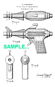 Patent Art: 1950s New Space Police NEUTRON BLASTER (Image1)