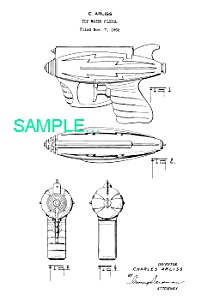 Patent Art: 1950s SPACE WATER Gun Ray Gun (Image1)