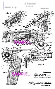 Patent Art: 1960s  AGENT ZERO M Toy Knife Gun - matted (Image1)