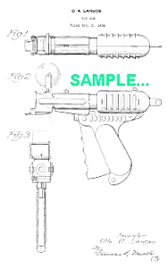 Patent Art: 1930s PAPER POP GUN Toy - Langson (Image1)