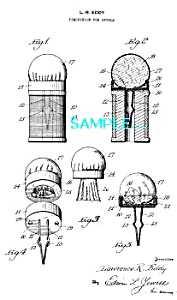 Patent Art: 1930s Sewing SPOOL PIN CUSHION (Image1)