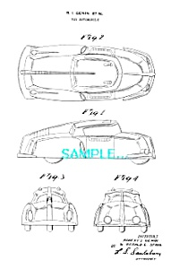 Patent Art: 1950s ARCHER PLASTIC Toy Car A (Image1)