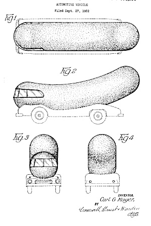 Patent Art: 1950s OSCAR MAYER Wienermobile - matted (Image1)
