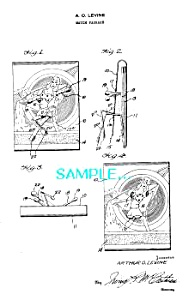 Patent Art: 1940s Lady Feature Matchbook