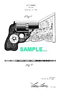 Patent Art: 1930s Cardboard TOY GUN - matted (Image1)