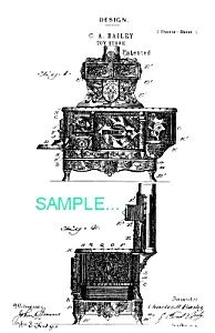 Patent Art: Bailey Toy Cast Iron Stove ..eclipse..