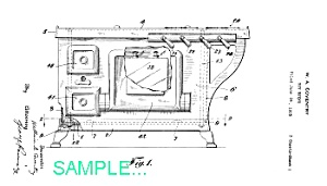 Patent Art: 1920s Toy Cast Iron Stove