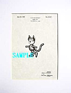 Patent Art: 1920s FELIX THE CAT - Matted Print (Image1)