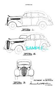 Patent Art: 1937 DODGE AUTOMOBILE (Image1)