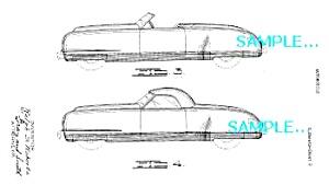 Patent Art B: 1940/41 CHRYSLER THUNDERBOLT CONCEPT Car (Image1)