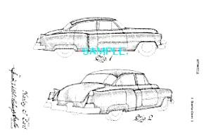Patent Art: 1950 CADILLAC AUTOMOBILE (Image1)