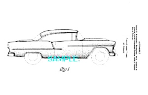 Patent Art: 1955 Chevy CHEVROLET BEL AIR AUTOMOBILE (Image1)