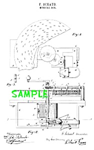 Patent Art: 1800s CRITERION DISK MUSIC BOX-matted (Image1)