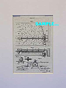 Patent Art: 1800s Regina Disk Music Box - Matted