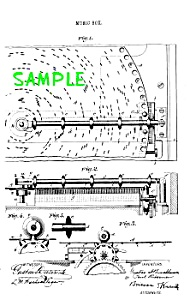 Patent Art: 1800s REGINA DISK MUSIC BOX-matted (Image1)