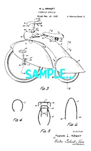 Patent Art: Awesome 1930s  Flared Fender TRICYCLE (Image1)