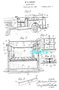 Patent Art: 1934 Darley LADDER TRUCK - FIRE APPARATUS (Image1)