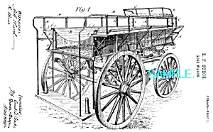 Patent Art: Gorgeous 1885 HOSE WAGON - Fire Apparatus (Image1)
