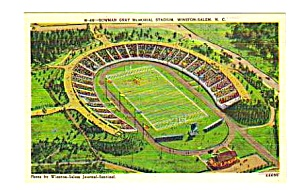 1950s Bowman Gray Winston-salem Stadium Postcard