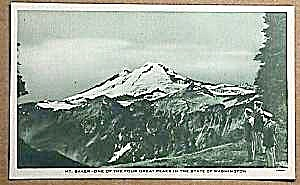 WWII/Soldier MT. BAKER, WASHINGTON Postcard (Image1)