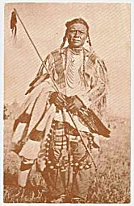 1977 Blackfeet Indian Postcard-museum
