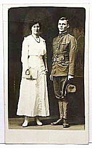 c.1915 SOLDIER in UNIFORM RP Postcard C.H.C.? (Image1)
