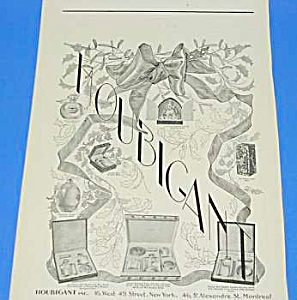 Nice 1924 HOUBIGANT Perfume Christmas Ad (Image1)