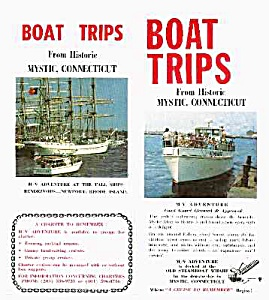 1979 MYSTIC CONNECTICUT Boat Ride Brochure (Image1)