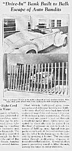 1937 BANK DRIVEIN Thwarts ROBBERS Mag Article (Image1)