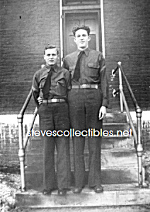Vintage Affectionate Military Men Photo Gay Interest