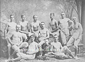 c.1884 YALE CREW Shirtless Team Photo - GAY INTEREST (Image1)