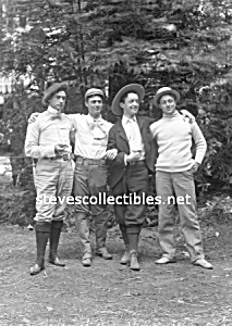 Early GROUP OF MEN with Fabulous HATS Photo-GAY INT. (Image1)
