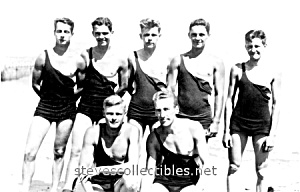 Early Hot LIFEGUARDS in a Row Photo - GAY INTEREST (Image1)