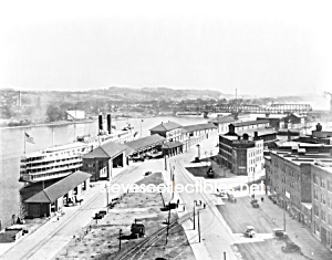 c.1921 ALBANY, NY Wharf BIRDS EYE VIEW Photo - 8 x 10 (Image1)