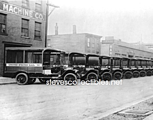 c.1925 U.S. POSTAL TRUCK FLEET Historic Photo - 8 x 10 (Image1)