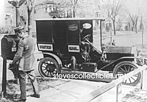 c.1920 U.S. POSTAL WORKER and VEHICLE Photo - 5 x 7 (Image1)