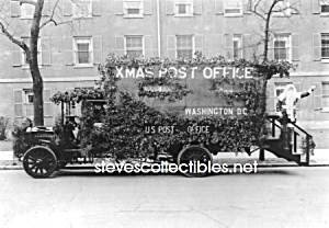 c.1921 U.S. POSTAL MOBILE Post Office SANTA CLAUS Photo (Image1)