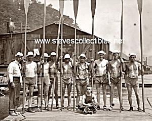 1908 SYRACUSE Varsity Crew TEAM Photo - GAY INTEREST (Image1)