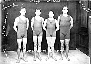1920s Bulgy Men Swim Team Photo Gay Interest Gay