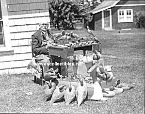C.1920 Awesome Carver Duck Decoys-birds Photo