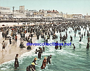 c.1902 BEACH AT ATLANTIC CITY New Jersey Photo - 8x10 (Image1)