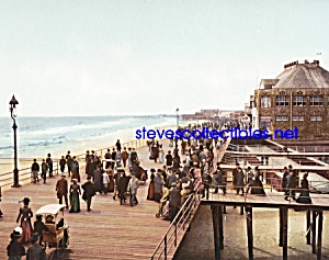 c.1900 BOARD WALK AT ATLANTIC CITY New Jersey Photo (Image1)