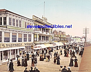 c.1900 BOARD WALK AT ATLANTIC CITY New Jersey Photo B (Image1)